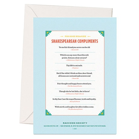 Shakespearean Insults Cards - Happy Birthday to Thee