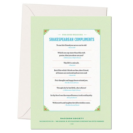 Shakespearean Insults Cards - I Miss Thee Greatly