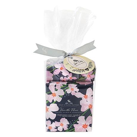 Vanilla Fleur Candle and Soap Set