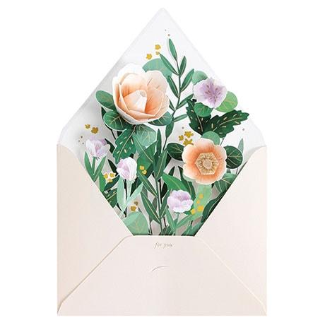 Wildflower Envelope Pop-Up Card