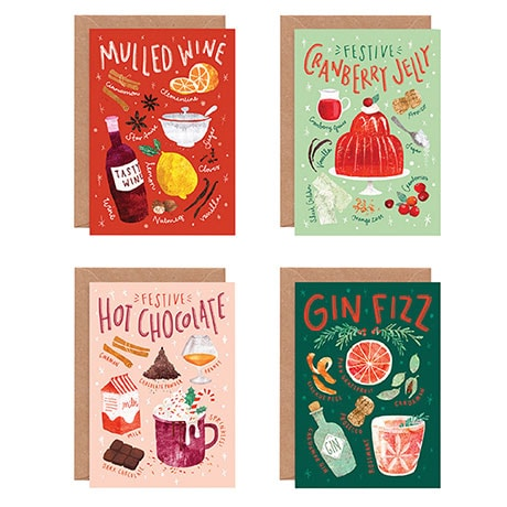Christmas Cocktail Cards