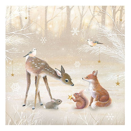 Adorable Winter Wildlife Advent Cards