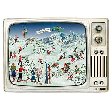 Skiing on the Retro TV Advent Calendar
