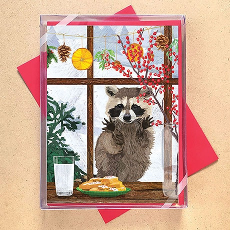 Raccoon Christmas Cards