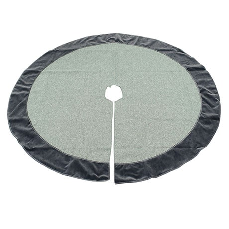 Tweed and Velvet Christmas Collection Tree Skirt - Olive