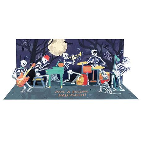 Skeleton Band Audio Pop-Up Card