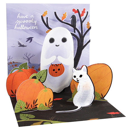 Ghost and Cat Pop-Up Card