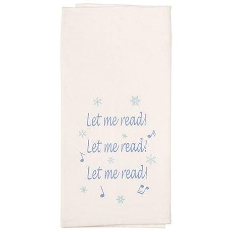 Literary Christmas Songs Tea Towels
