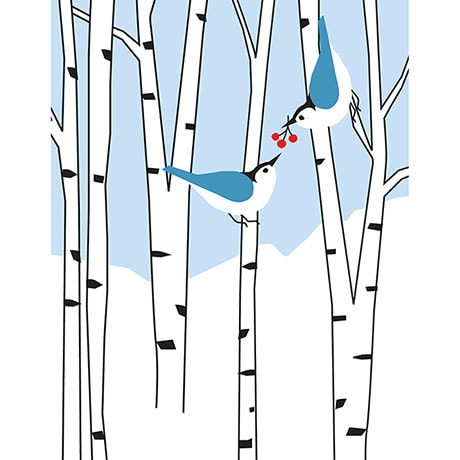 Nuthatch Pair Holiday Cards