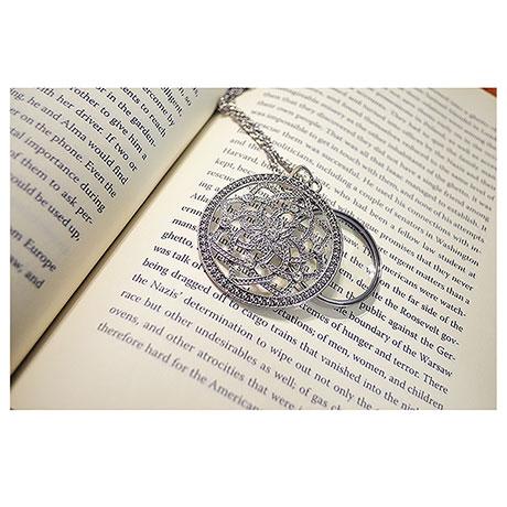 Lotus Magnifier Necklace