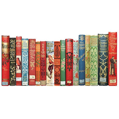 Mantlepiece Bookspines Holiday Card
