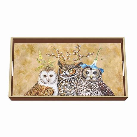 Owl Family Tray