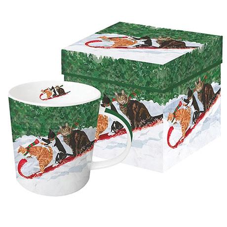 Toboggan Cats Mug