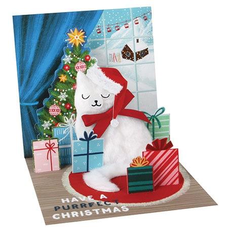 Santa Cat Pop-Up Card
