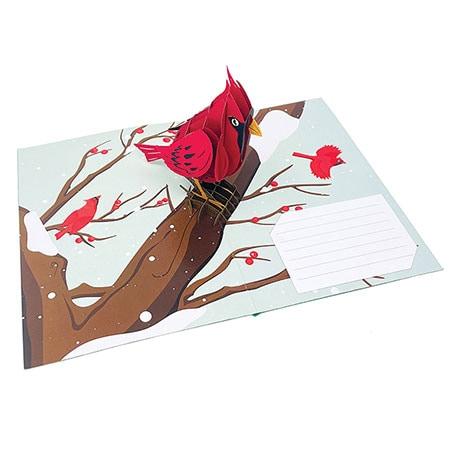 Cardinal Pop-Up Card
