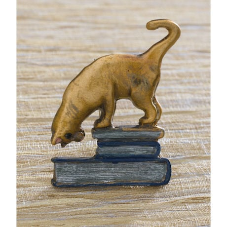 Book Cat Pin
