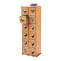 Library CD Storage Cabinet: 12-Drawer