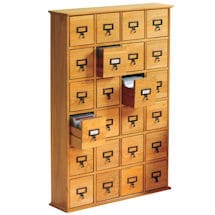 Library CD Storage Cabinet: 24-Drawer
