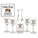 Personalized Book Club 4 Wine Glasses