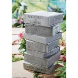Stacked Books Garden Stool