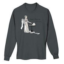 Jane Austen by Edward Gorey Long-Sleeve T-Shirt
