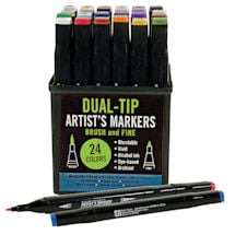 Dual-Tip Artist's Markers