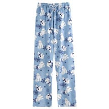 Winter Fun Flannel Bottoms - Blue Ice Polar Bear