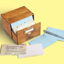 Card Catalog Note Cards