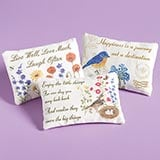 Lavender Sachet Pillows with Inspirational Quotes