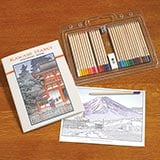 Kawase Hasui Coloring Book and Pencil Set
