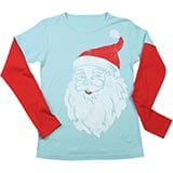 Santa Two-Toned T-Shirt