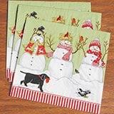 Three Snowmen Napkins