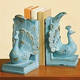 Gilded Peacock Bookends