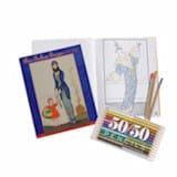 Paris Fashion Designs 1912-1913 Coloring Book with Colored Pencils