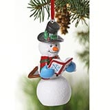 Reading Snowman Ornament