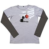 Christmas Cat with Ornament Double-Up Tee