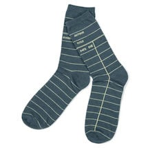 Library Card Socks - Dark Teal