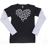 Heart of Cats Double-Up Tee