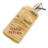 Library Card Eyeglasses Case