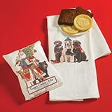 Woodland Santa Tea Towel and Sugar Cookie Mix