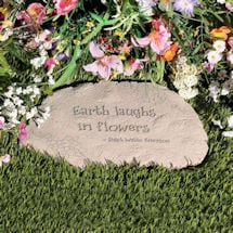 """Earth Laughs in Flowers"" Garden Stone"