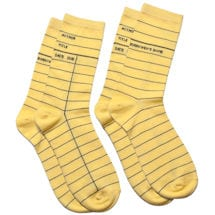 Library Card Socks Set of 2