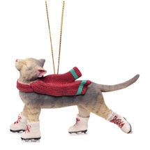 Skating Cat Ornament