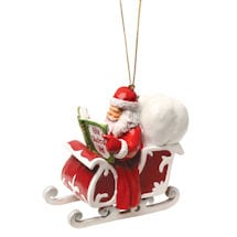 Reading Santa Ornament