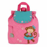 Silly Monkey Quilted Backpacks - Pink