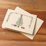 Christmas Tree and Pup Tatted Lace Cards