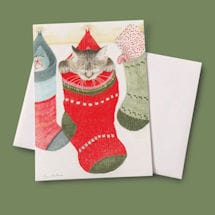 Kitty in Stocking Christmas Cards