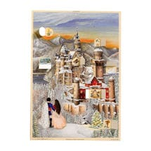 Snowy Neuschwanstein Castle Advent Calendar