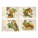 Harvest Friends Cloth Place Mats