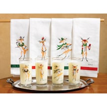 Vintage Reindeer Tea Towel - Toddy